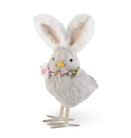 K&K Interiors Gray Chick with Bunny Ears