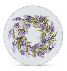 K&K Interiors Lavender Melamine Appetizer Plate