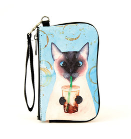 Comeco Inc. Caffeine Addicted Cat Wristlet