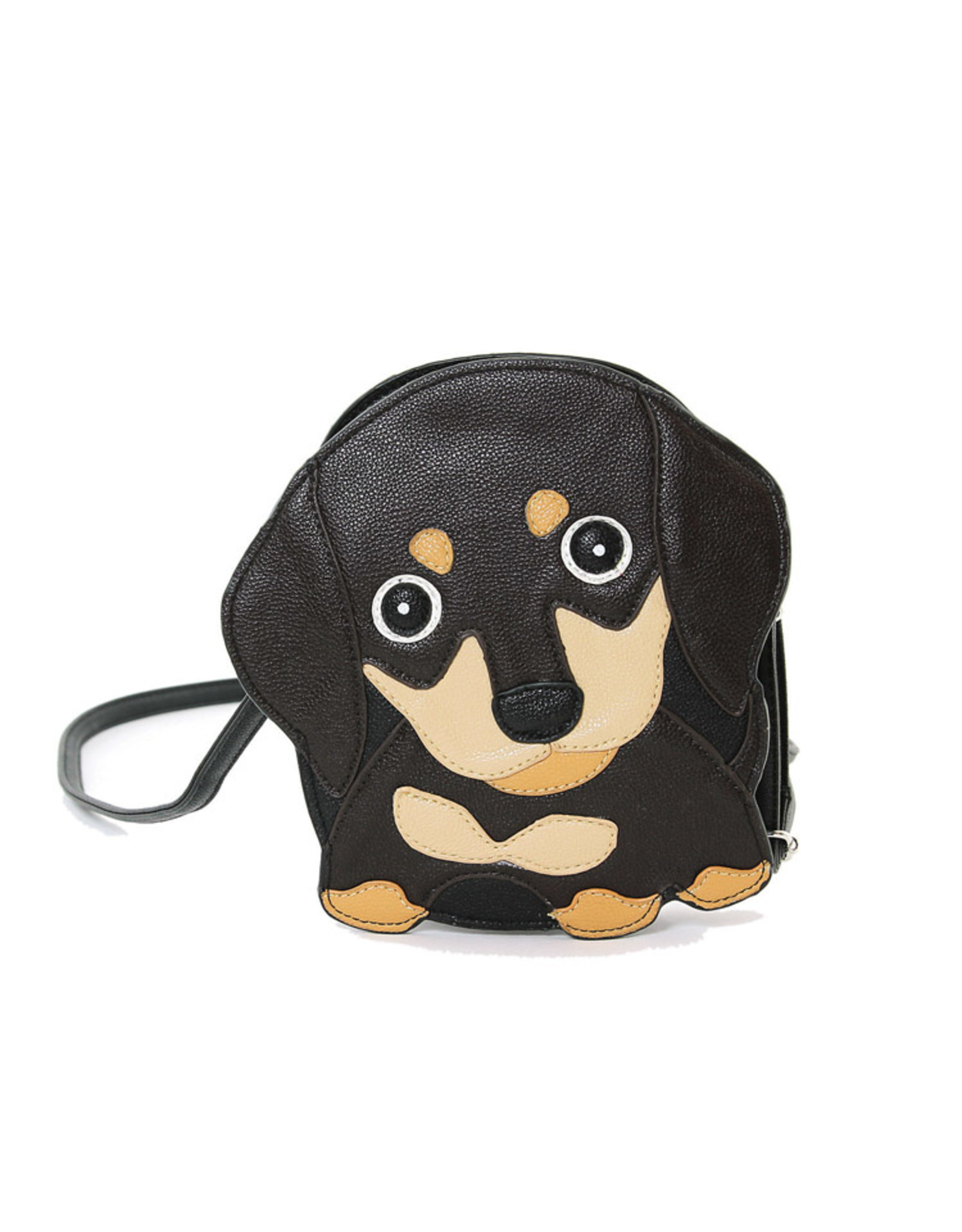 Comeco Inc. Brown Wiener Puppy Shoulder Crossbody bag
