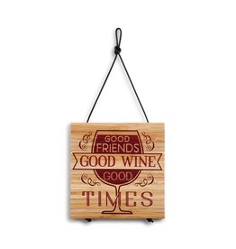 "Demdaco ""Good Friends, Good Wine"" Expandable Trivet"