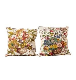 "Creative Co-Op 26"" Square Cotton Printed Pillow, 2 Styles"