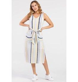 Tribal Marigold Striped Dress