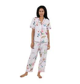 La Cera La Cera Short Sleeve Floral Pajama Set