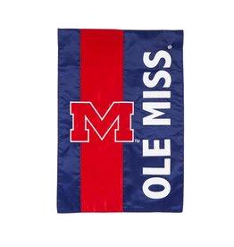 Evergreen Enterprises University of Mississippi Embellished Garden Flag