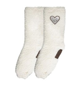 """Pavilion """"Livin' The Cozy Life"""" Sherpa Slippers"""