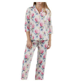 La Cera La Cera Printed Pajama Set