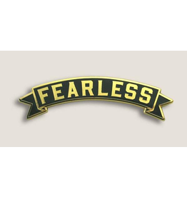Trixie & Milo Banner Black Fearless Pin