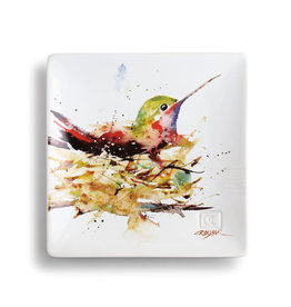 Demdaco Hummingbird In Nest Snack Plate