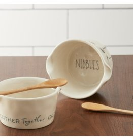 Demdaco Nibbles Appetizer Bowl and Spoon