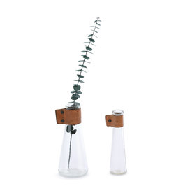 "Demdaco ""Grow"" and ""Heart"" Vase Set"