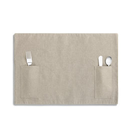 Demdaco Taupe Untensil Pocket Placemat