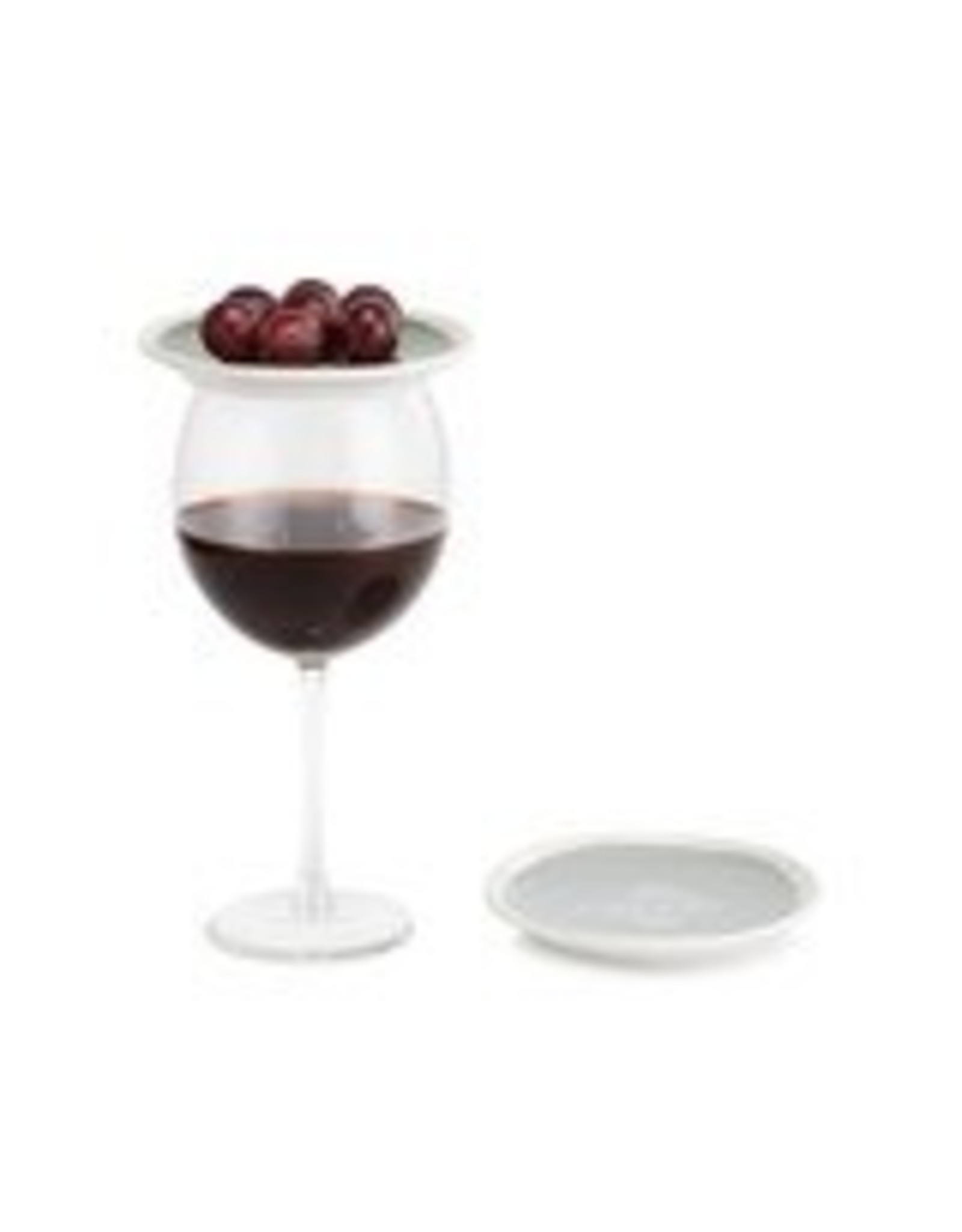 """Demdaco """"Cheers!"""" Wine App. Plates Set of 2"""