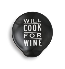 "Demdaco ""Will Cook For Wine"" Spoon Rest"