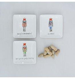 "Creative Co-Op Ceramic Nutcracker Dish 4"""