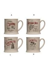 Creative Co-Op Stoneware Vintage Mug 16oz