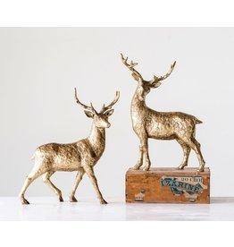 """Creative Co-Op Gold Resin Standing Deer 14"""""""