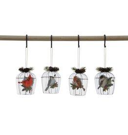 "Creative Co-Op Glass Birdcage Ornament 4"""