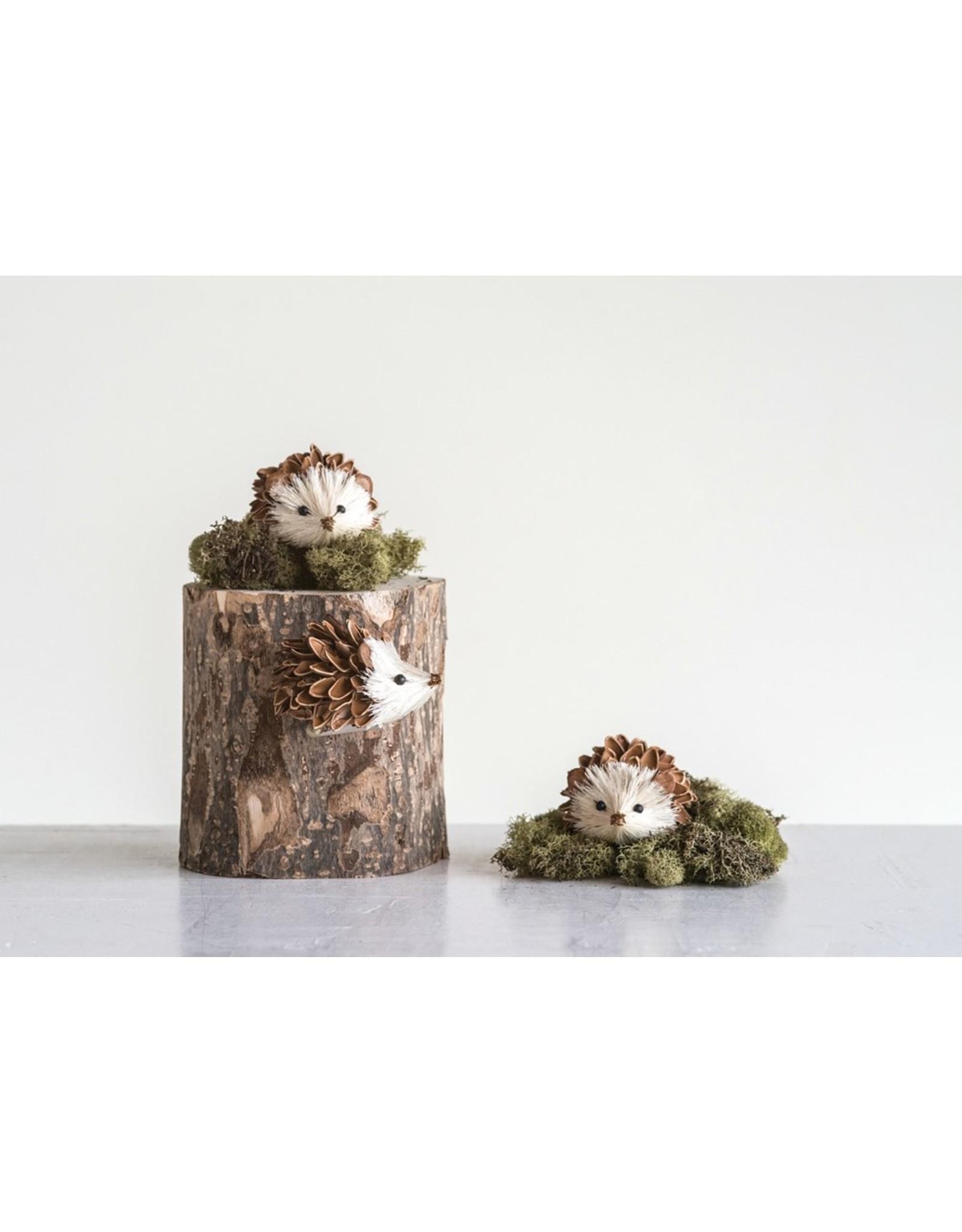 Creative Co-Op Pinecone Shell & Sisal Hedgehog Set of 3