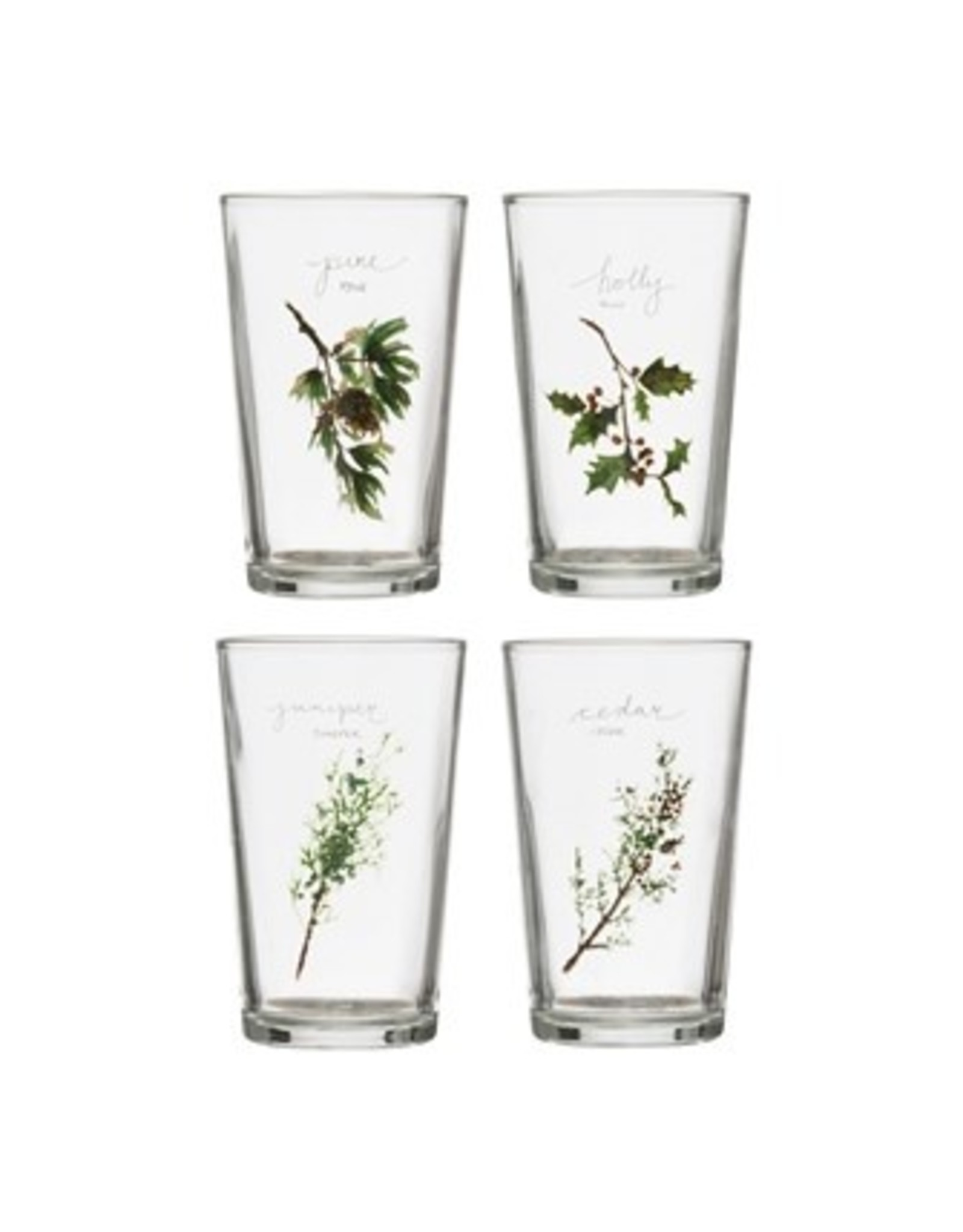 """Creative Co-Op Glass Drinking Cup 4"""""""