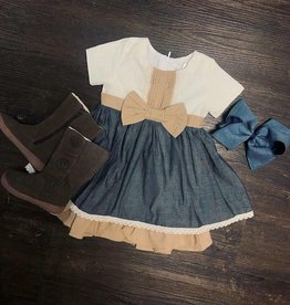 Evie's Closet Evie's Closet Pintuck Dress W/Bow