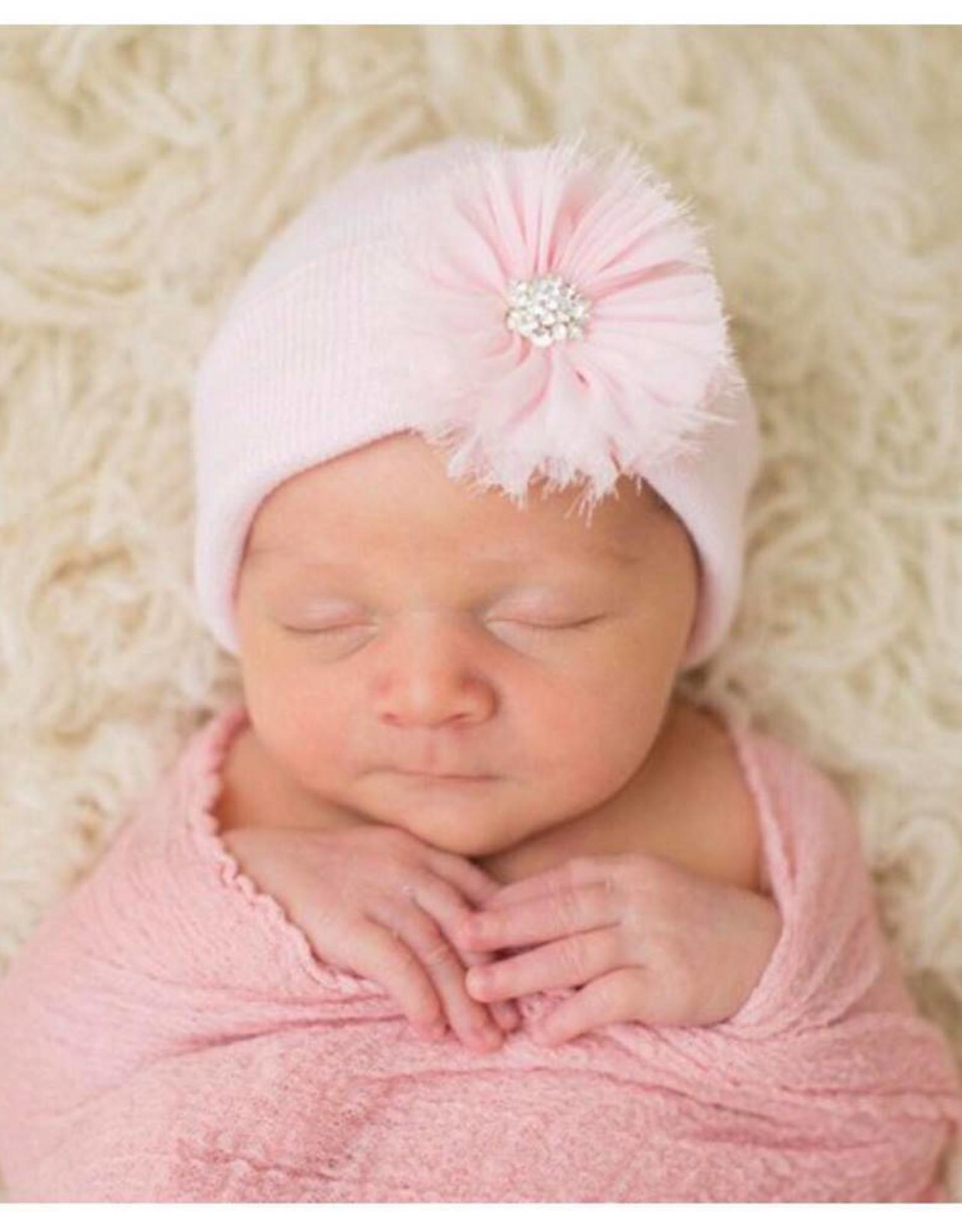 iLYBEAN Pink Fairy Flower Beanie
