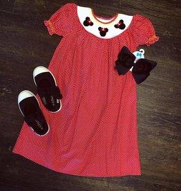 Remember Nguyen Red Minnie Bishop Dress