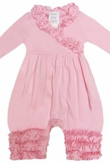Lemon Loves Layette Olivia Romper in Rose
