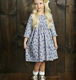 Mustard Pie English Blue Pepper Dress