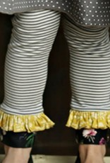 Mustard Pie Vintage Violet Grey Stripe Griffin Legging