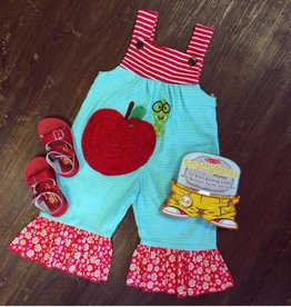 LaJenns Book Worm Apple Romper