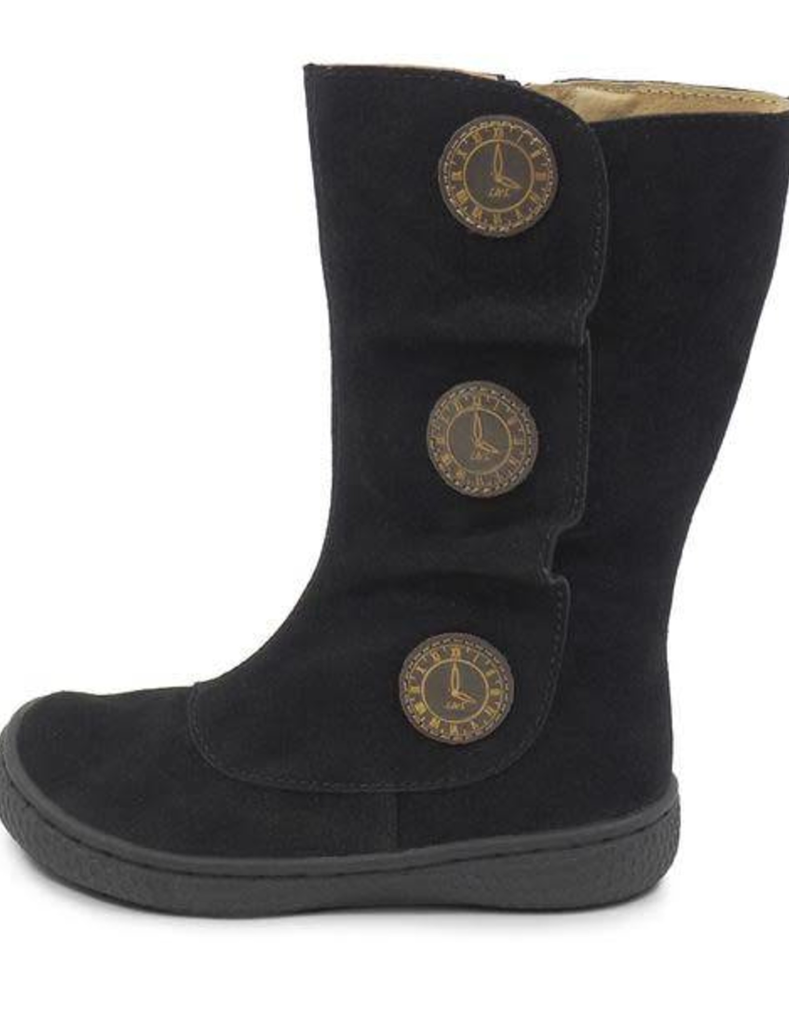 Livie and Luca Tiempo Boots in Black Suede