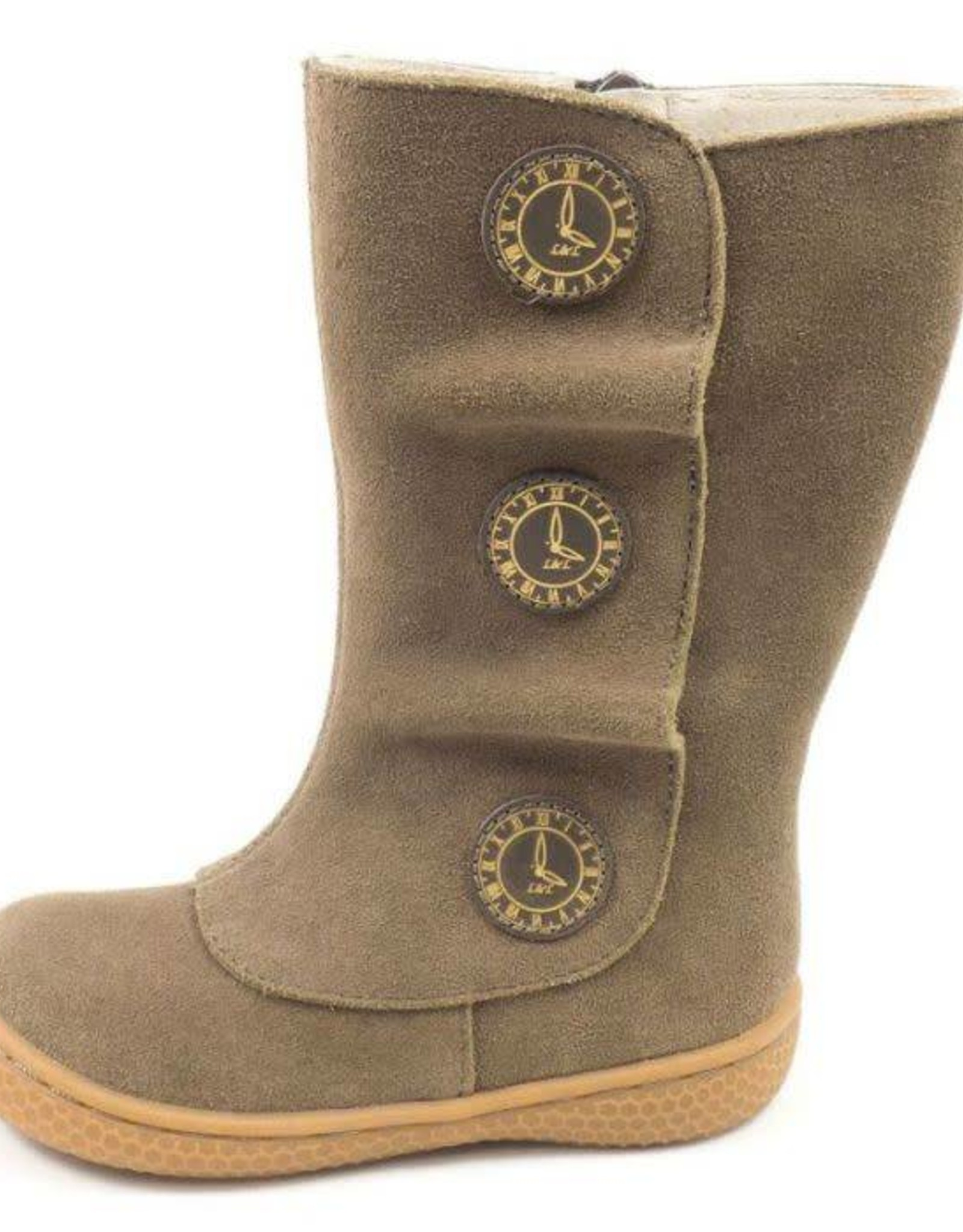 Livie and Luca Tiempo Boots in Taupe Suede
