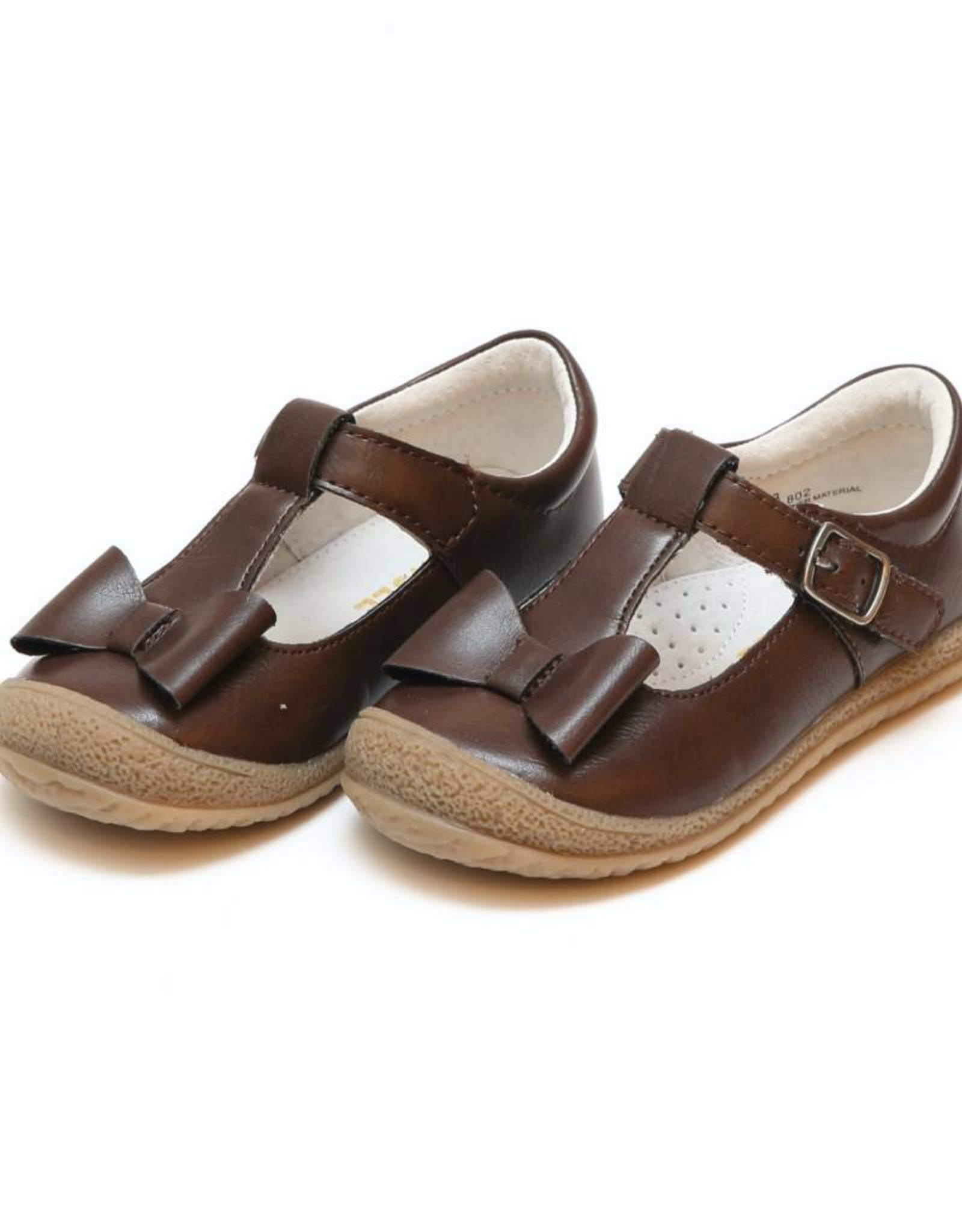 L'AMOUR Emma Autumn Bow T-Strap Mary Jane in Brown