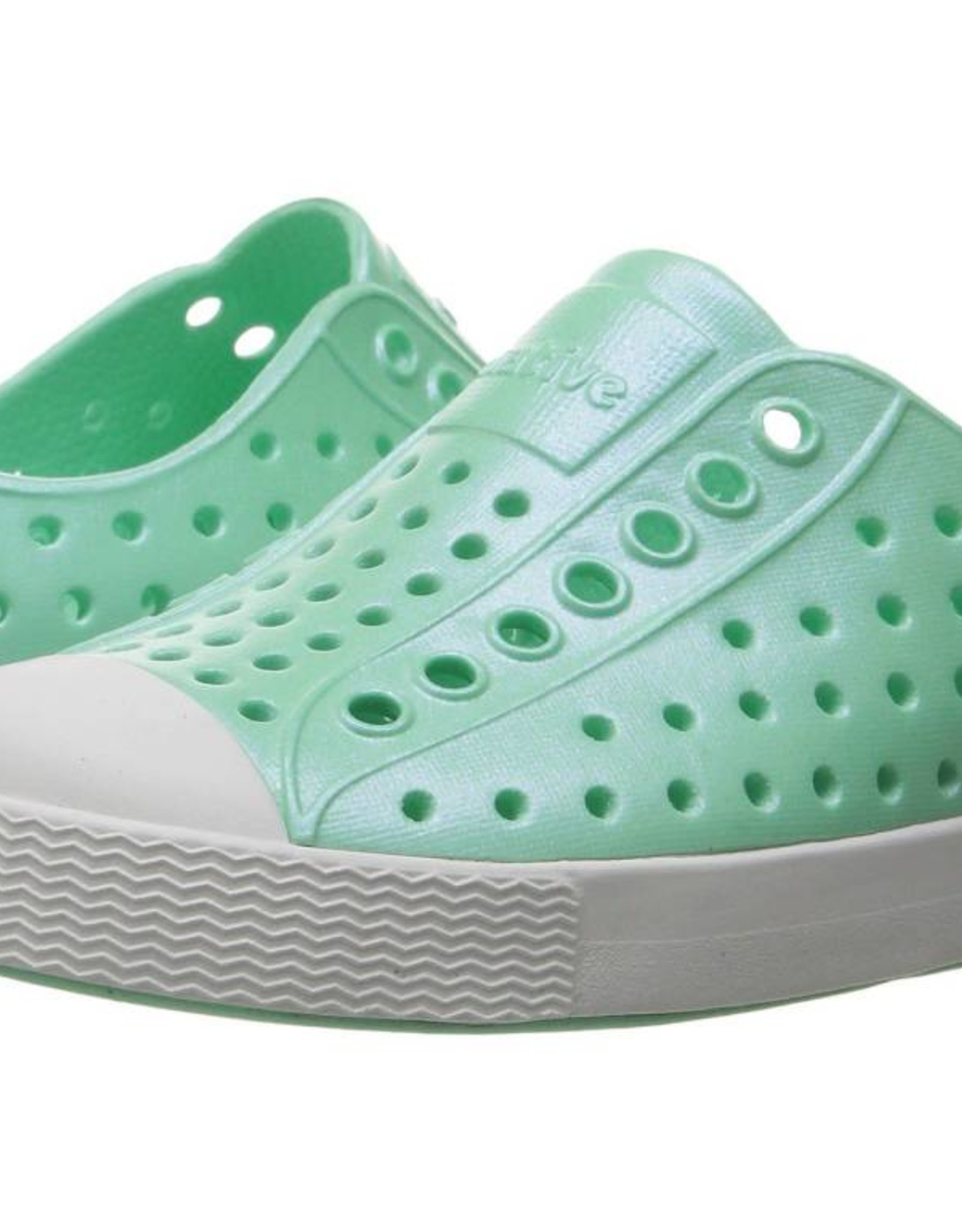 Native Shoes Jefferson in Glass Green/Shell White