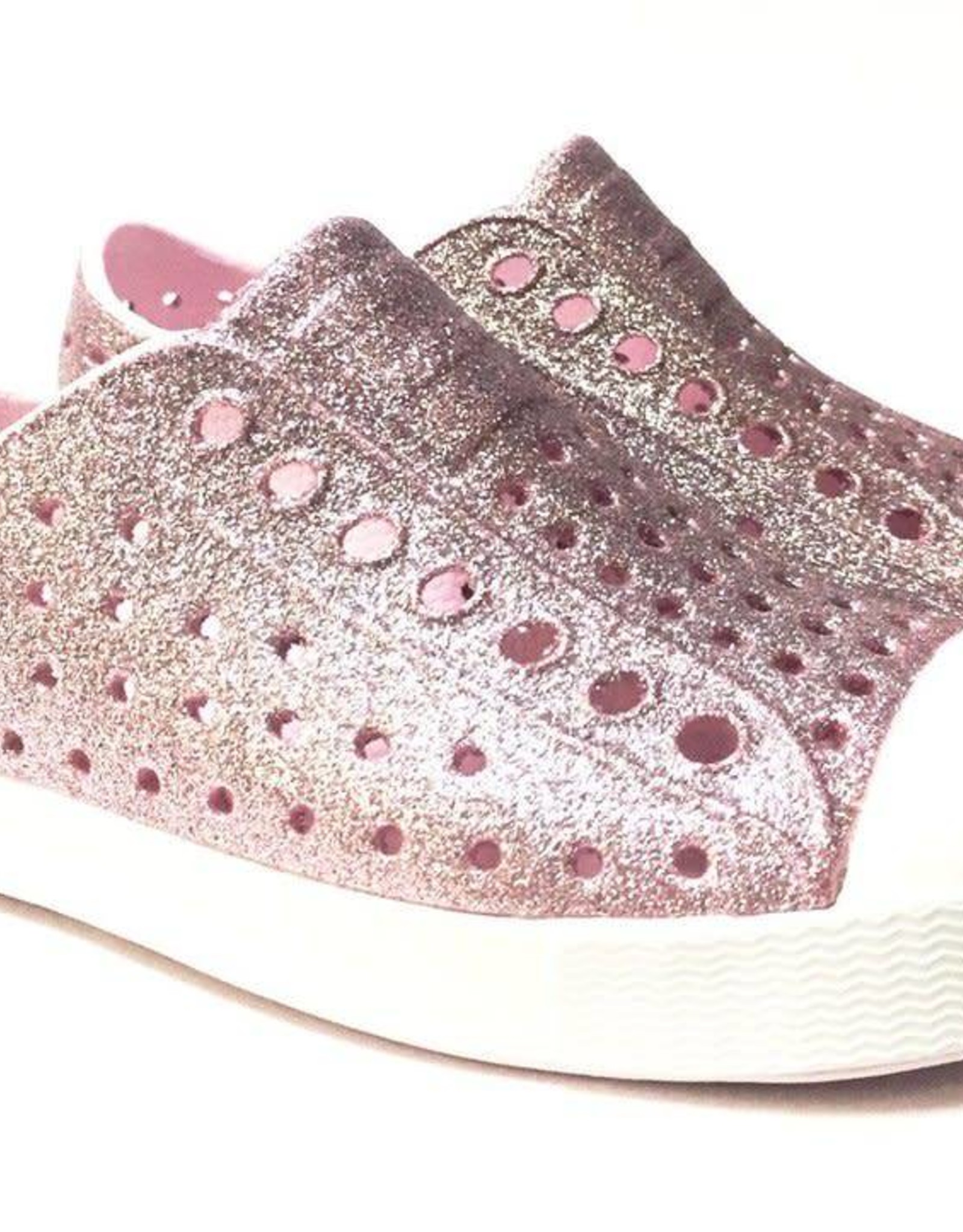 Native Shoes Jefferson in Milk Pink Bling/Shell White