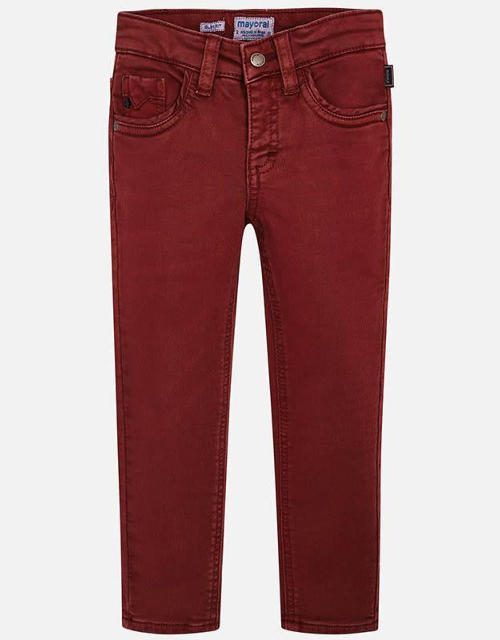 Mayoral Boys Burgundy Slim Fit Jeans