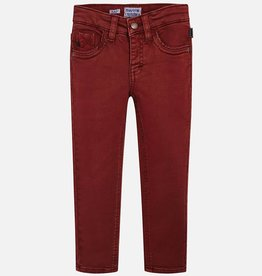 Mayoral Boys Burgundy Slim Fit Jeans