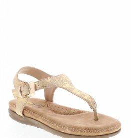 Volatile Amelie Thong Gold Sandal