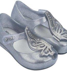 Mini Melissa Ultragirl Fly II in Silver Glitter