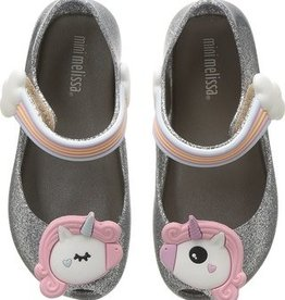 Mini Melissa Ultra Girl Unicorn in Silver Glitter