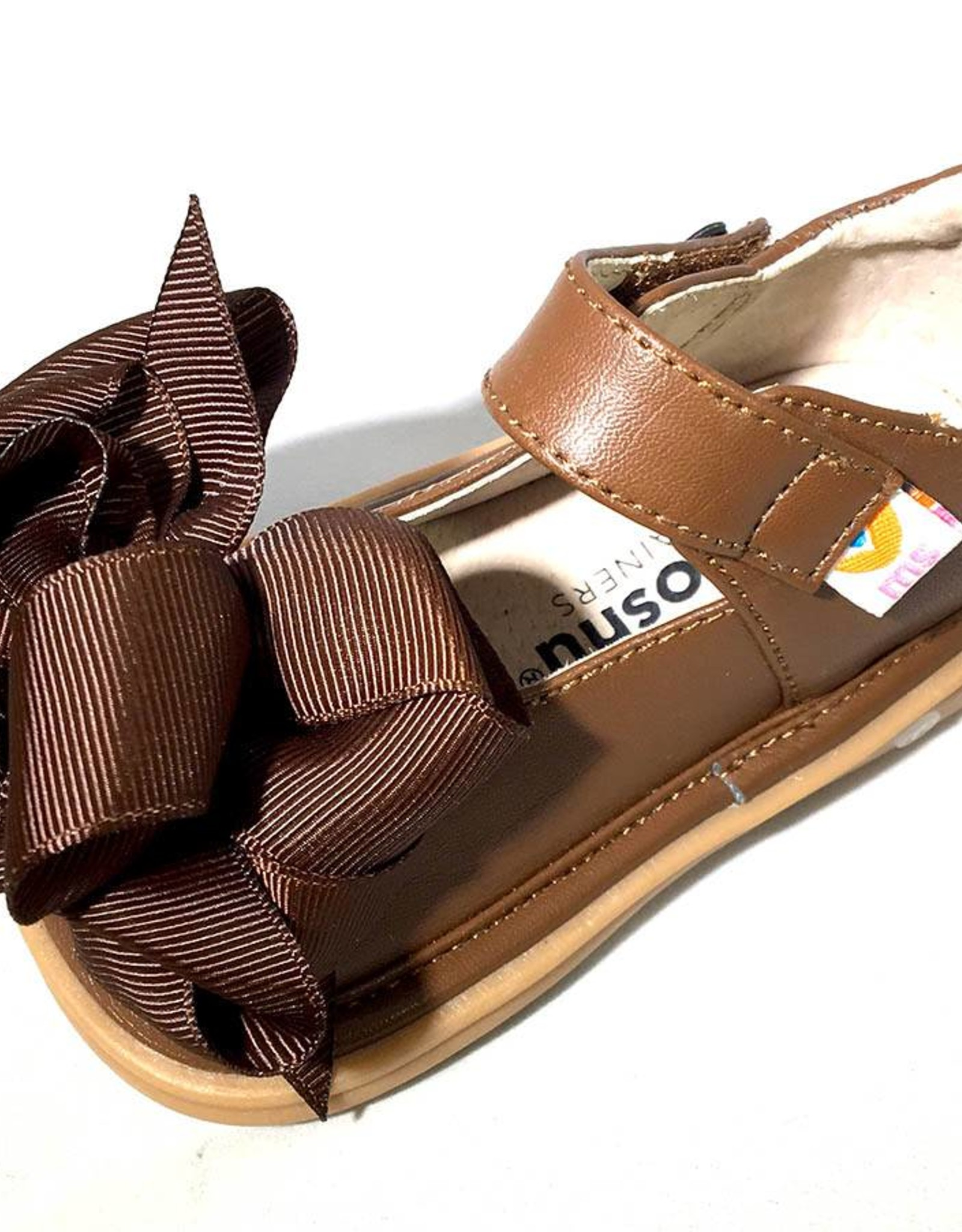 Mooshu Trainers Mary Jane in Chocolate