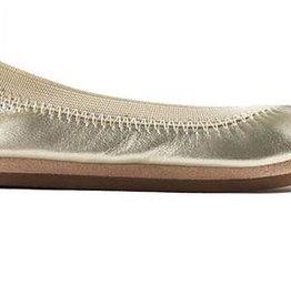 Yosi Samra Gold Ballet Flats
