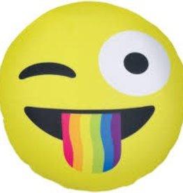 Iscream Crazy Face Emoji Pillow
