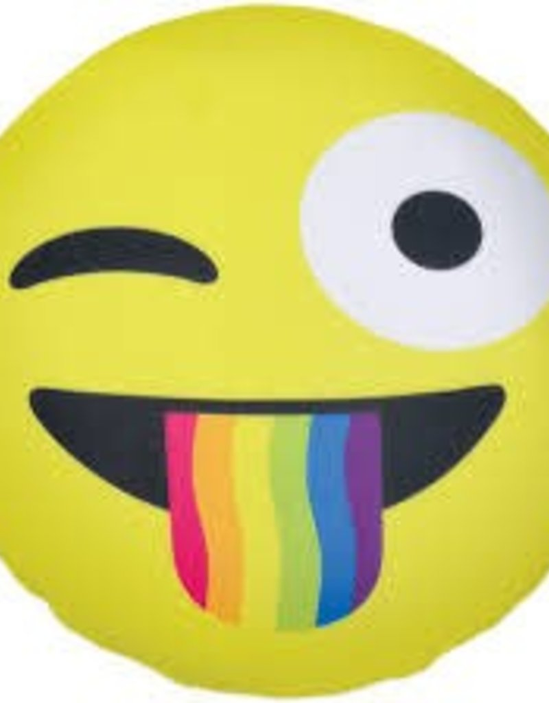 Iscream Crazy Face Emoji Pillow