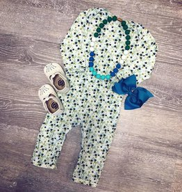 Swanky Baby Vintage Olive Fields Floral Layette
