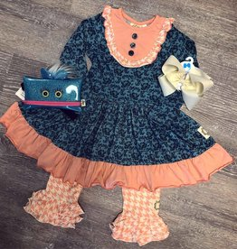 Swanky Baby Vintage Aubrie's Yoke Dress Legging Set