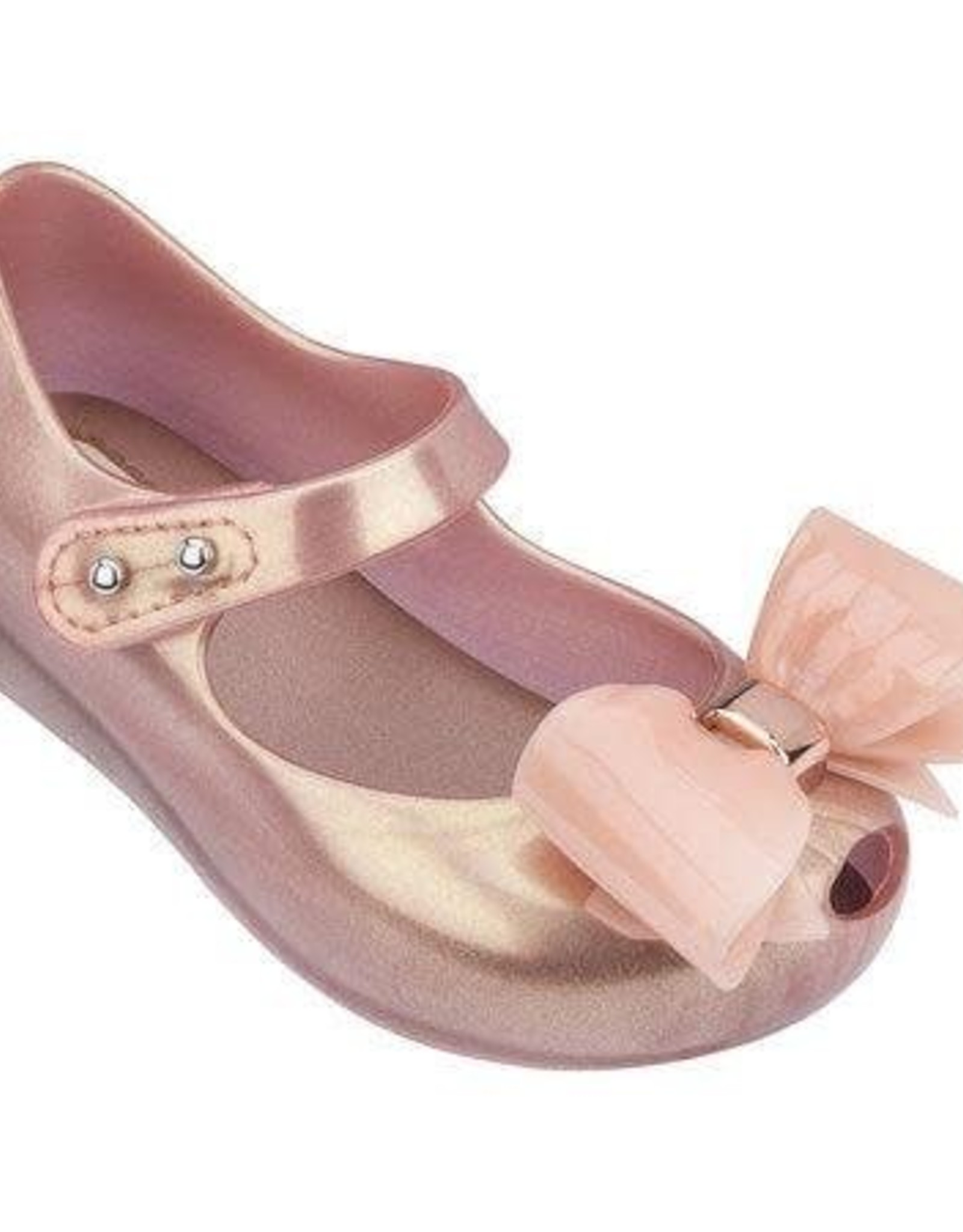 Mini Melissa Ultra Girl Bow VIII in Metallic Pink