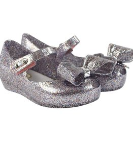 Mini Melissa Ultra Girl Bow III in Multi Color Glitter