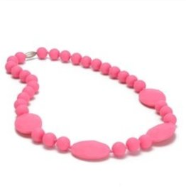 Chewbeads Perry Teething Necklace in Punchy Pink